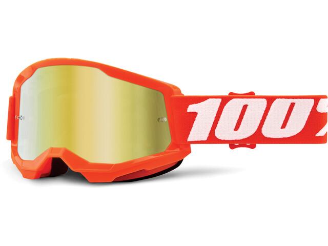 100% Strata Anti-Fog Goggles Gen2 orange/mirror